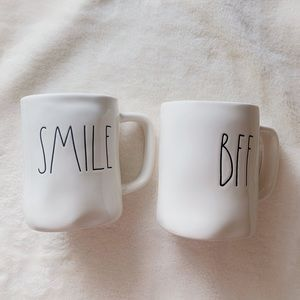 Rae Dunn new mug smile BFF lot pair